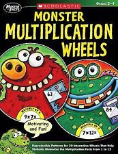 Scholastic Monster Multiplication Wheels, Grades 2-4, 64 Pages by