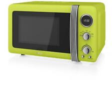 Swan SM22030LN Retro 800W Digital Freestanding Microwave - Lime Green