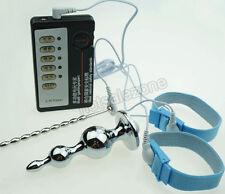Medical Themed Electro Shock Extender Rings Electric Urethral Plug E-stim Set
