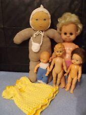 Schönes 5 tlg.Puppen/Teddy/Konvolut
