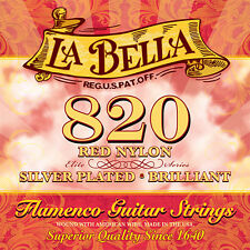La Bella 820 Elite Flamenco Red Nylon Flamenco Guitar String /medium tension/