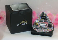 New  Rogaska Crystal iPhone iPod iPad Charging Station Desk Top USB Connector