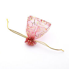 250x Wholesale Claret Organza Wedding Pouch Gift Bags 7x9cm Jewely Findings LC