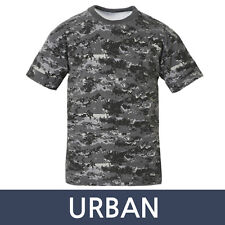 Mens Military Tactical Digital Camoflage T Shirts Army Combat Uniform Tee XS-XL