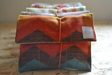 TOBACCO POUCH CASE HOMEMADE JABOONA rainbow zigzag with free papers and filters