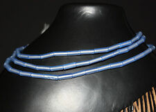 Strand antique Venetian blue opal tube trade beads