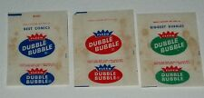 1960's Fleer DUBBLE BUBBLE Bubble Gum wrappers
