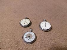 """███► 2 alte Taschenuhren & 1 alte Stoppuhr """" Ruhla """" - um ca. 1950"""
