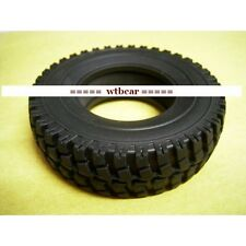 1/14 rc car truck 25mm front rubber tyres tire x 2 for Tamiya Man scania Benz