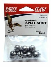 Split Shot Sinkers, Size 2, Removable, 12 Packs with 7 per pk=84 Total  #SS-2