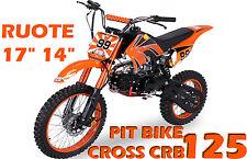 """Pit Bike CRB 125cc 11,5cv + Ruote Grandi 17""""14"""" + Forcelle Rovesciate ASTA DA 1€"""