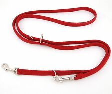 "HAMILTON European DT 5/8"" Nylon Multi-Use Dog Lead, Red"