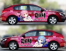 Manga Anime Girl Full Color Car Graphics Decal Vinyl Sticker Fit any Car Set