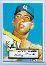 MICKEY MANTLE 1952 TOPPS ROOKIE CARD REPRINT #311! YANKEES HALL OF FAME LEGEND!