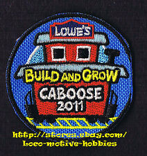 LMH PATCH Badge  TRAIN  CABOOSE Car 2011 LOWES Build Grow Kid's Clinic Railroad