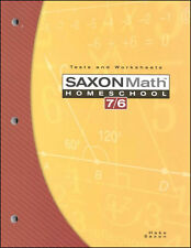 Saxon Math 76 Tests & Worksheets Book Fourth Edition 6th Grade NEW!