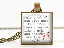 """Only an Aunt Special Aunt Pendant or Charm 1"""" Setting Love Aunt Niece Family 01"""