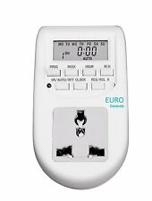 Euro Controls: Digital Programmable Timer Electronic with built in Socket
