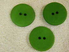 25 NEW 1 INCH DULL FINISH  EMERALD GREEN   BUTTONS