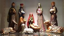 Thomas Pacconi Classics Nativity Scene Christ is Born Christmas Hand Painted NEW