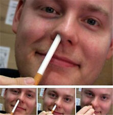 Close-up Magic Trick Cigarette Up Into The Nose Disappear