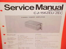 1978 PANASONIC STEREO POWER AMPLIFIER FACTORY SERVICE MANUAL CJ-156ZEU 156ZEC