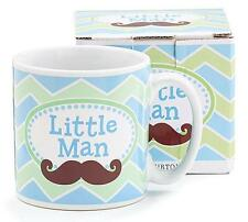 Little Man Blue & Green Chevron Print 13oz Ceramic Mug