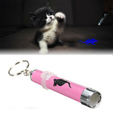 Cat Dog Pet Toys LED Laser Pointer Light Pen w/Bright Mouse Animation Flashlight