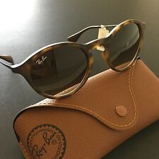 Ray-Ban RB4243 863/13 Brown Tortoise Gunmetal Round Sunglasses Youth Style Italy