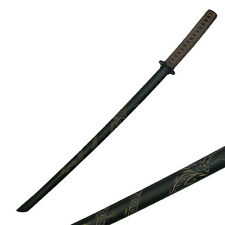 "2PC 39"" Black Hardwood Martial Arts Training Chinese Sword Swords #1807D"