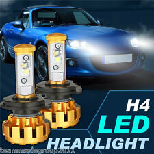 Pair H4 252W Cree LED Headlights Kit 6500K 25200LM Gold 9003 HB2 Car PK 120W 80W