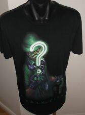 Batman Arkham City Riddle Black Men's Black T-Shirt Size Small