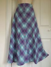 M&S LADIES CLASSIC LOVELY PRINT TURQUOISE MIX PULL ON SKIRT,SIZE 18 BNWT