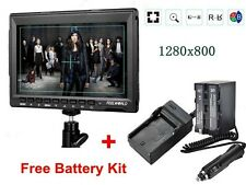 "Feelworld FW759 7"" Ultra HD IPS 1280x800 Monitor+F970 Battery Kit For BMPCC,GH4"