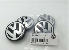 4pcs 65mm Wheel Center Hub Caps Cover Emblem For Volkswagen VW POLO JETTA PASSAT