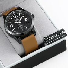 HUGE OUTLET CLEARANCE SALE! BRAND NEW ANTHONY JAMES ART-DECO MENS WATCH SRP £430