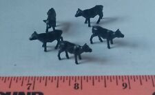 1/64 ERTL FARM TOY QTY OF 5 black angus BEEF steer CALVES 4 YOUR DISPLY baby cow