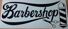 barbers shop window scissors barber pole salon vinyl graphic sticker  wall art