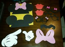 Minnie and mickey mouse photo props w/sticks