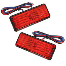 2x12V LED Reflector Rear Tail Brake Stop Marker Light Truck Trailer Motorcycle