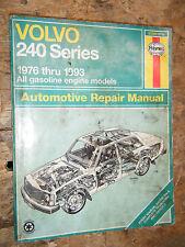 1976-1993 VOLVO 240 SERIES HAYNES REPAIR MANUAL WORKSHOP 77 78 79 80 81 82 83 84