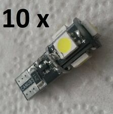 10 x 5 SMD 5er LED WEISS T10 Canbus 5050 Posten W5W Glassockel 12V W2,1x9,5d COB