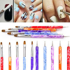 5PCS 2 Way Dotting Manicure Tools Painting Pen Brush Nail Art Paint WB