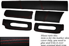 RED STITCH FITS LOTUS ELISE EXIGE S1 96-01 FIVE PIECE DASH KIT LTHR COVERS ONLY