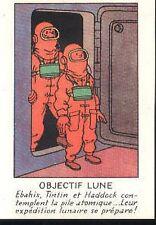 TINTIN Objectif Lune Milou Hergé carte postale cp postcard 44 astronaute haddock