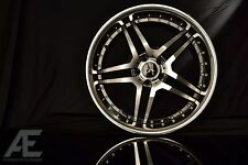 20-inch Black Machine Chrome Lip Mercedes Wheels/Rims RW2 5x112
