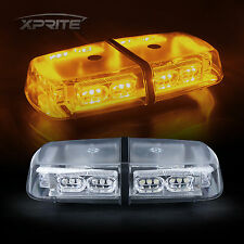 Roof Top 36 LED Flash Emergency Warning Mini Strobe Light Bar Amber Yellow 18W
