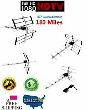 Amplified Antenna Hd Tv Outdoor 180 Miles 1080p Digital Directional Hdtv Uhf/Vhf