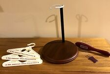 """American Girl Pleasant Company Wooden 18"""" Doll Stand, Hairbrush & 3 Hangers"""