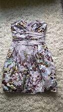 Bell By Oasis Ladies size 6/8 Grey + Multi Strapless Evening Dress